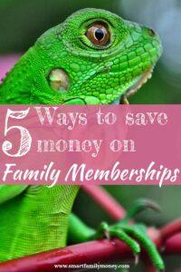 5 ways to save money on family memberships