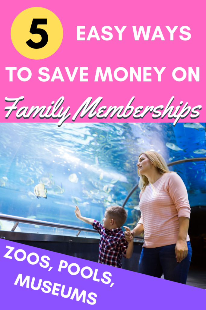 Does your family enjoy trips to the zoo, children's museum, science center, or local pool? Do you like to buy family memberships? Here are some ideas to save money on a family pass to your local fun spot. #savemoney #tips #frugal #family #money