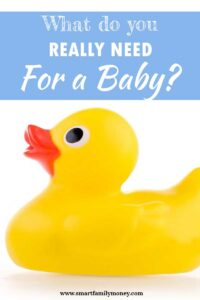 What do you really need for a baby?