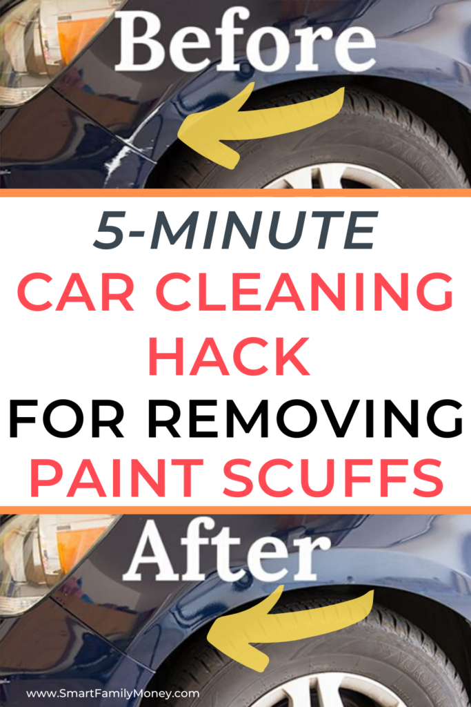5-Minute Car Cleaning Hack for Removing Paint Scuffs