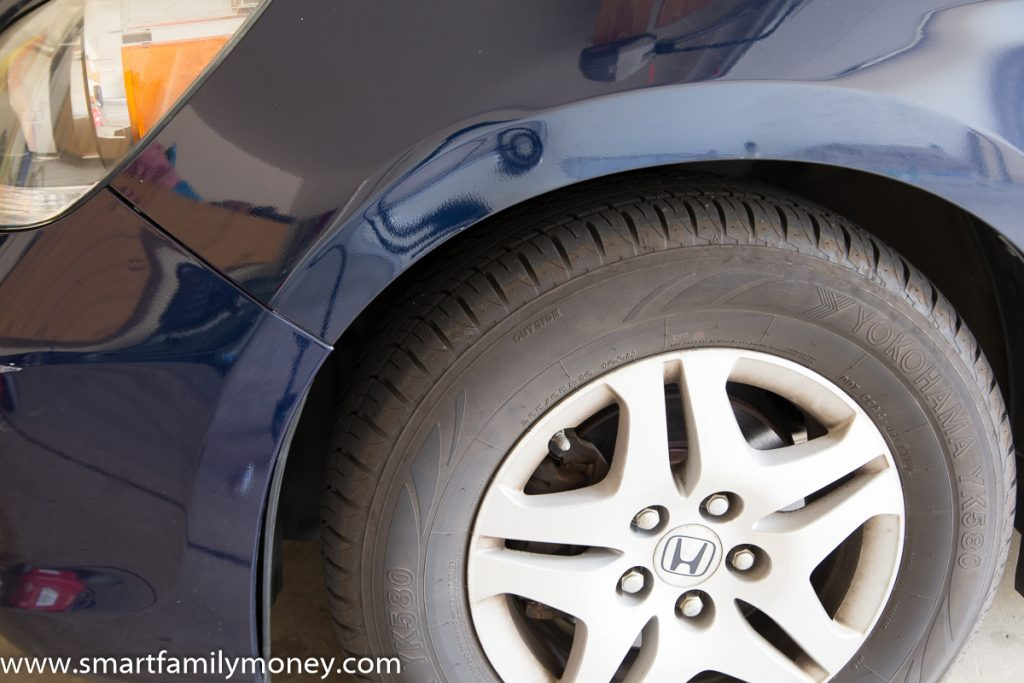 How to paint transfer scuffs from a car