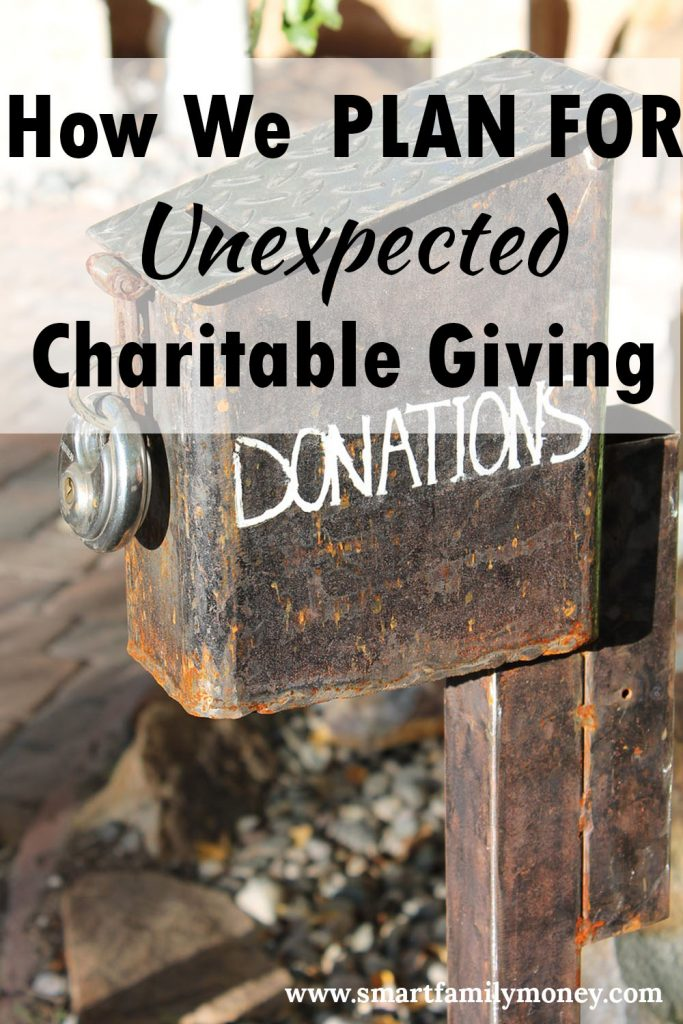 How We PLAN for Unexpected Charitable Giving