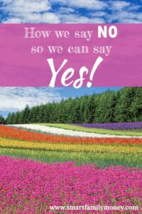 How we say NO so we can say YES!