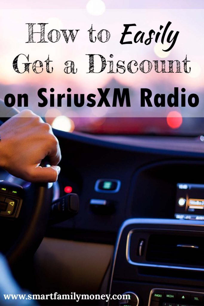 Siriusxm Discount How To Get One Easily Smart Family Money