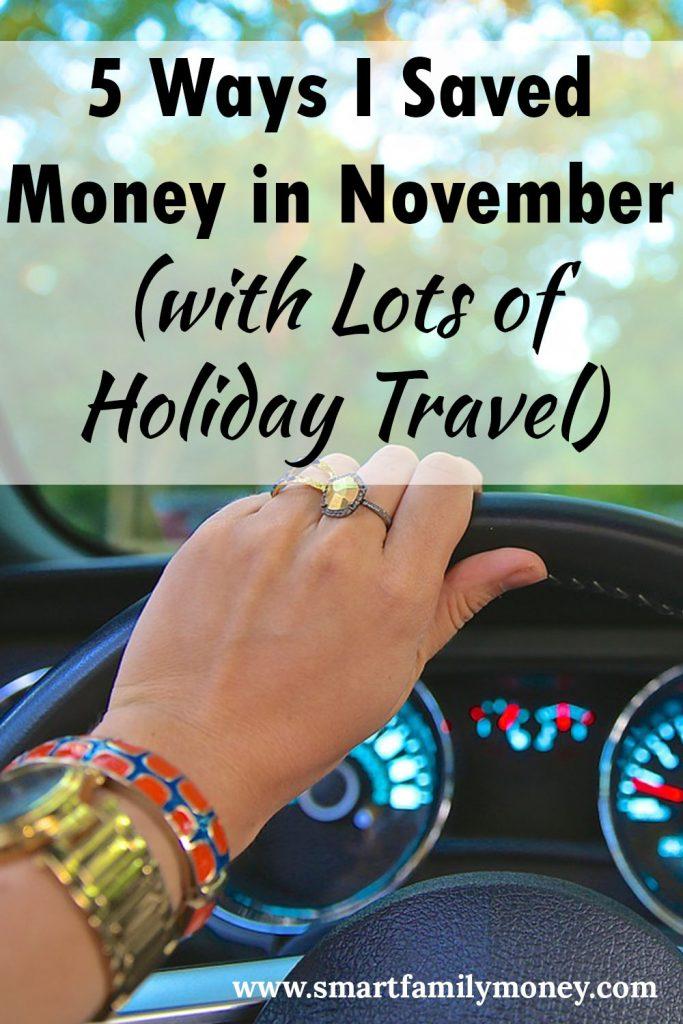 5 Ways I Saved Money in November