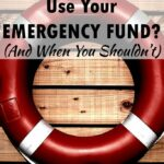 Great post! This really helped me understand when to use my emergency fund!