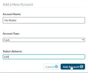 YNAB Cash Account