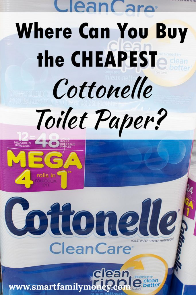 Where Can You Buy the Cheapest Cottonelle Toilet Paper?