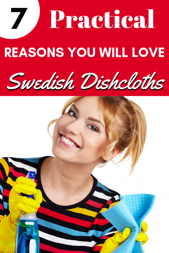 What is a Swedish dishcloth? Why would you want one? Here are 7 practical reasons you're going to LOVE Swedish dishcloths! #clean #tip #zerowaste #frugal