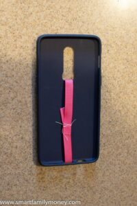 DIY phone grip strap