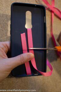 DIY phone grip strap