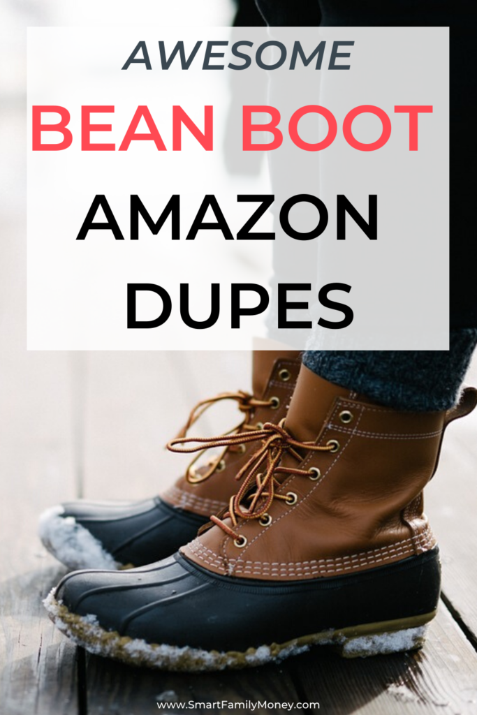 Awesome Bean Boot Amazon Dupes