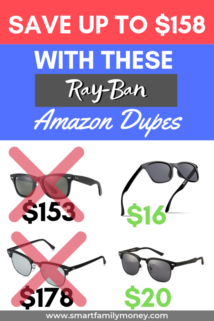 Save up to $158 with these Ray-Ban Amazon Dupes