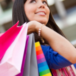 Woman shopping for cheaper alternatives to her favorite brands