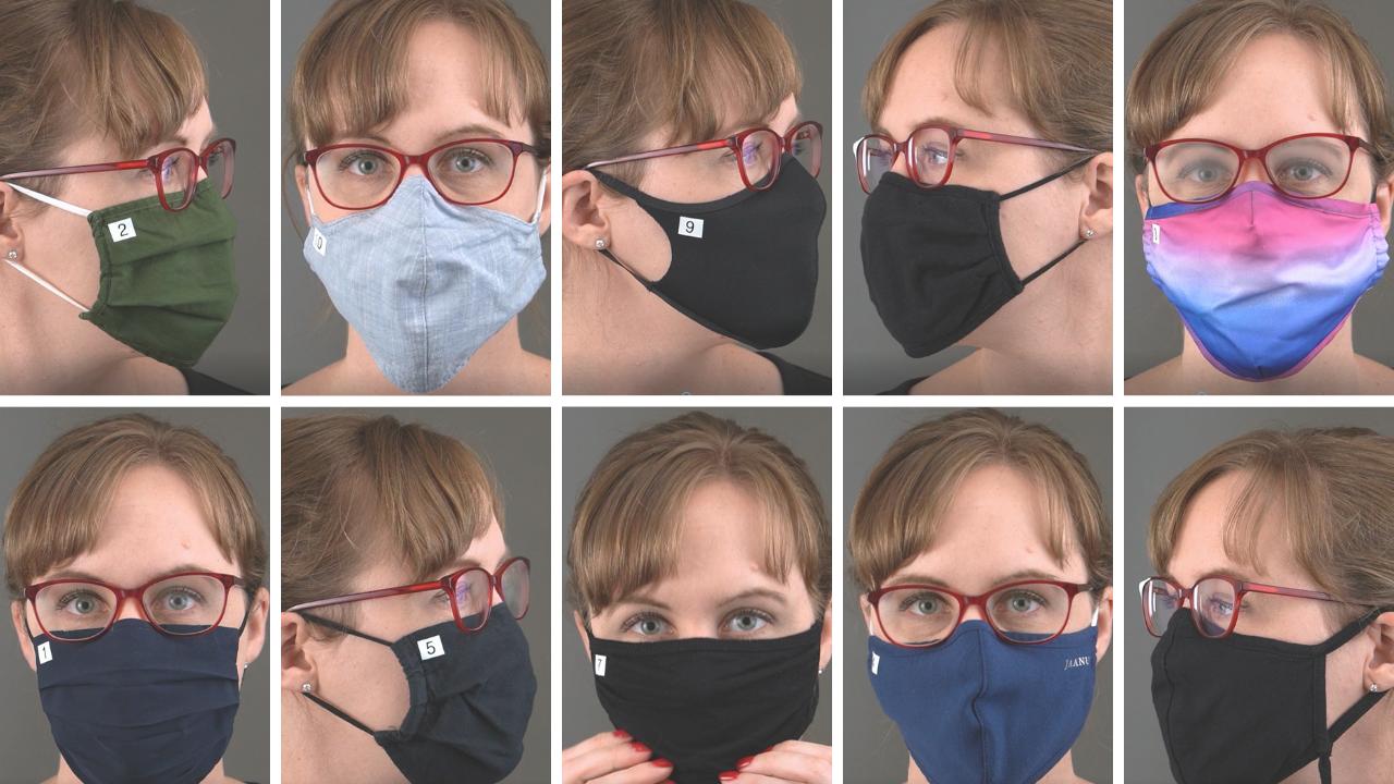 10 face masks